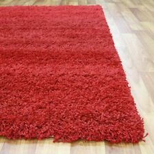 Shaggy Rug RED Shag Floor Carpet Mat Good Quality Assorted Sizes FREE Delivery
