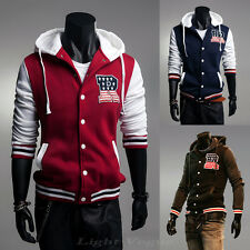 Mens New Slim Fit Designed Zip Up Hooded Jacket Coat Casual Sweatshirt Hoodies 9