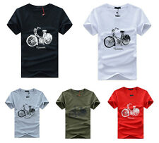 New Mens Fashion Short Sleeve Casual T-shirt Summer Top Cotton Blend  5Colors k
