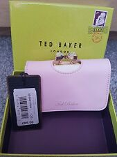 Bnwt boxed ted baker pale pink matte crystal clasp purse