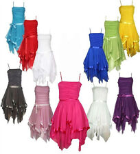 New Womens Ladies Evening Strappy Frill Prom Party Satin Bow-tIe Dress Uk 8-14