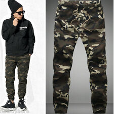 Stylish Men Casual Army Jogger Pants Patchwork Harem Camouflage Trousers 2Colors
