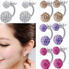 Fashion Jewelry 1 pair Women Lady Elegant pearl Rhinestone Ear Stud Earrings new