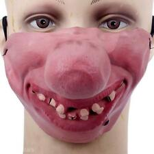 Funny Horrible Party Halloween Fool's Day Clown Mask Cosplay Half Face Masks