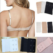 3Pcs Women 2/3 Rows Hook Bra Extender Soft Bra Extension Strap Underwear