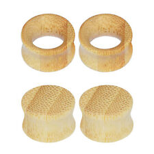 4pcs Bamboo Wood Ear Gauges-Double Flared Plugs-Ear Tunnels-Flesh Tunnels Hot