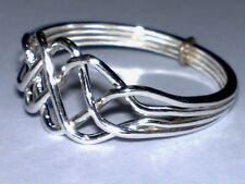 """Sterling Silver 925  """"PUZZLE RING""""  Ladies"""