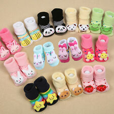 Cartoon Cute Baby Infants Kid Girl Boy Anti-slip Socks Slipper Socks Shoes Boots
