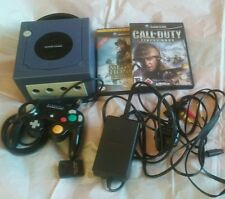 PURPLE NINTENDO GAMECUBE CONSOLE AND GAMES BUNDLE