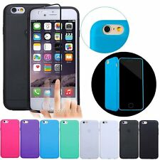 Full Protective Slip Silicone Rubber Hard Case Cover For Apple iPhone 6 6S 4.7""