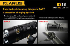 Klarus RS18 USB Rechargeable LED Flashlight - 900 Lumens
