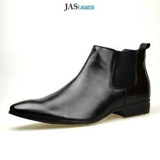 Mens Black Chelsea Ankle Boots Casual Dress Formal Shoes Size UK 6 7 8 9 10 11