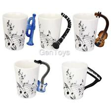 Porcelain Music Note Mug Coffee Cup Violin/Guitar/Bass/Trumpet/Flute Models Mug