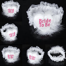 Lace Garter Brides To Be Heart Badge Fluffy Feather for Bachelorette Party Sexy