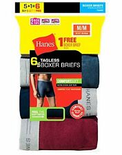 Hanes Brands 7349Z6 Men`s TAGLESS Boxer Briefs W/ Comfort Flex Waistband