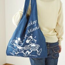 DISNEY Mickey Alice Pooh Shopping Tote Shoulder Bag Handbag Purse Japan E1628