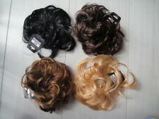 Blk Brown Blonde hair scrunchie bun ponytail extension