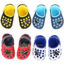 Unisex Boys Girls Hole Shoes Sandals Slippers Frog Cartoon Non-slip Beach Shoes
