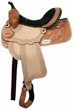 "Double T Barrel Style Saddle with Silver Laced Cantle 15"" 16"" NEW"