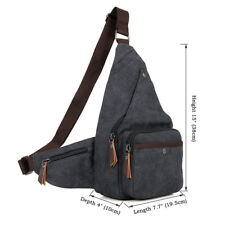 J.M.D Canvas Sports Sling Bag Unbalance Backpack Multi-Function Chest Bag