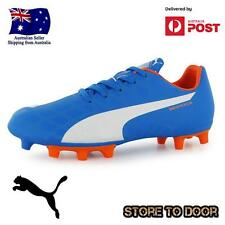Puma Evospeed 5.4 FG Boys Football Soccer Boots Size 5 Cleats Blue OZ Seller