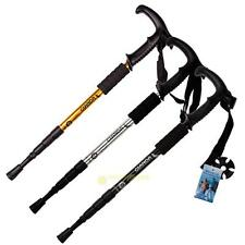 Trekking Hiking Poles Walking Stick Anti Shock Adjustable Camping Ultralight