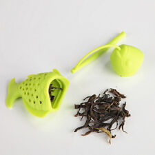 Fish Shape Silicone Loose Tea Leaf Strainer Filter Herbal Spice Infuser Diffuser