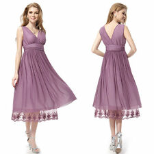 UK Formal Evening Prom Party Dress Bridesmaid Dresses Ball Gown Cocktail Size 8