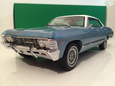 1967 Chevrolet Impala Sport Sedan Blue with White Roof Greenlight 19008 NEW 1:18