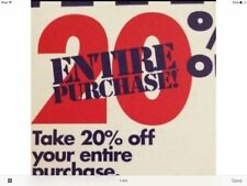 Bed Bath & Beyond 20% off ENTIRE PURCHASE coupon!!!