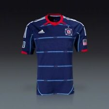 NEW Men ADIDAS Authentic Chicago Fire Away MLS Soccer Football Jersey MSRP $120
