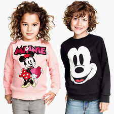 Toddler Kids Girls Boys Mickey Minnie Printed Pullover Sweatshirt T Shirts Tops