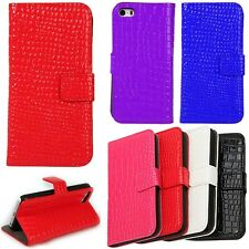 Phone Case Cover Crocodile Leather Wallet Flip Stand  For Apple iPhone 4 4s 4g