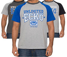Mens Ecko Unlimited Crew Neck T-Shirt Tee Shirt Casual Top Custom In 3 Colours