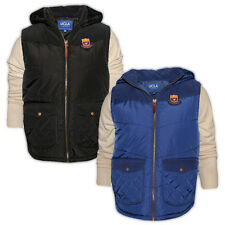 Mens UCLA Hooded Quilted Gilet Bodywarmer Warm Jacket Removable Hood