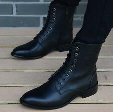Men's Pointed Toe Equestrian Combat Chukka Boots Engine Riding Punk Gothic Shoes