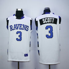 LUCAS SCOTT #3 ONE TREE HILL RAVENS BASKETBALL JERSEY WHITE