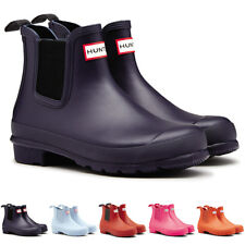 Ladies Hunter Original Chelsea Galoshes Wellingtons Muck Ankle Boots All Sizes