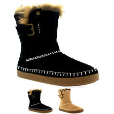 Ladies Roxy Ashley J Boot Faux Fur Warm Snow Winter Mid Calf Boots All Sizes