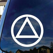 ALCOHOLICS ANONYMOUS Vinyl Decal Sticker AA Sober Living Symbol Steps Bill