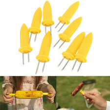 Safe Corn on the Cob Holders Skewers Needle Prongs For BBQ Barbecue Kitchen Tool