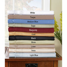 Olympic Queen 1000TC Egyptian Cotton 4 pc Bed Sheet Set!Solid & Stripe Colors