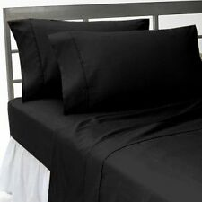 US Home Bedding Collection 1000TC 100%Egyptian Cotton Black Color Queen Size