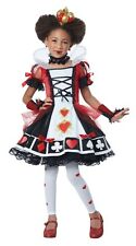 Queen of Hearts Deluxe Child Costume, Red/White, California Costume