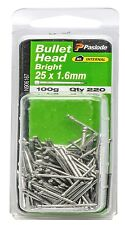 Paslode BULLET HEAD NAILS 100g Bright Steel *Aust Brand - 25x1.6mm Or 30x1.6mm