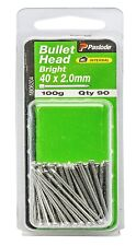 Paslode BULLET HEAD NAILS 100g Bright Steel *Aust Brand - 40x2.0mm Or 50x2.0mm
