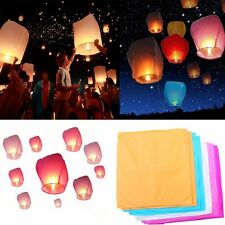 Multi-color Chinese Fire Fly Sky Paper Kongming Candle Wishing Lantern Wedding