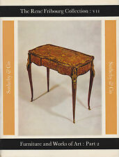FURNITURE & WORKS OF ART RENE FRIBOURG COLLECTION VII SOTHEBYS AUCTION CATALOGUE