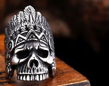 Ring Skull Stainless Steel Men S Biker 316l Size Punk Silver Jewelry Cool Gothic