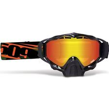 2017 509 Sinister X5 Snow Goggles- ORANGE CAMO- Fire Mirror Rose Tint Lens +CASE